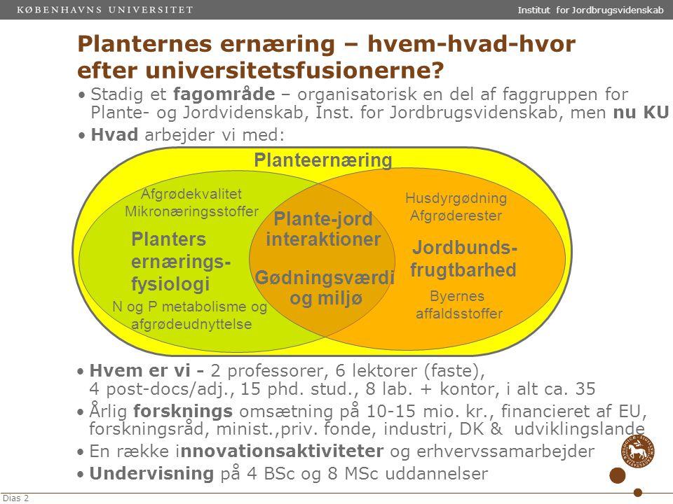 Planternes ernæring – hvem-hvad-hvor efter universitetsfusionerne