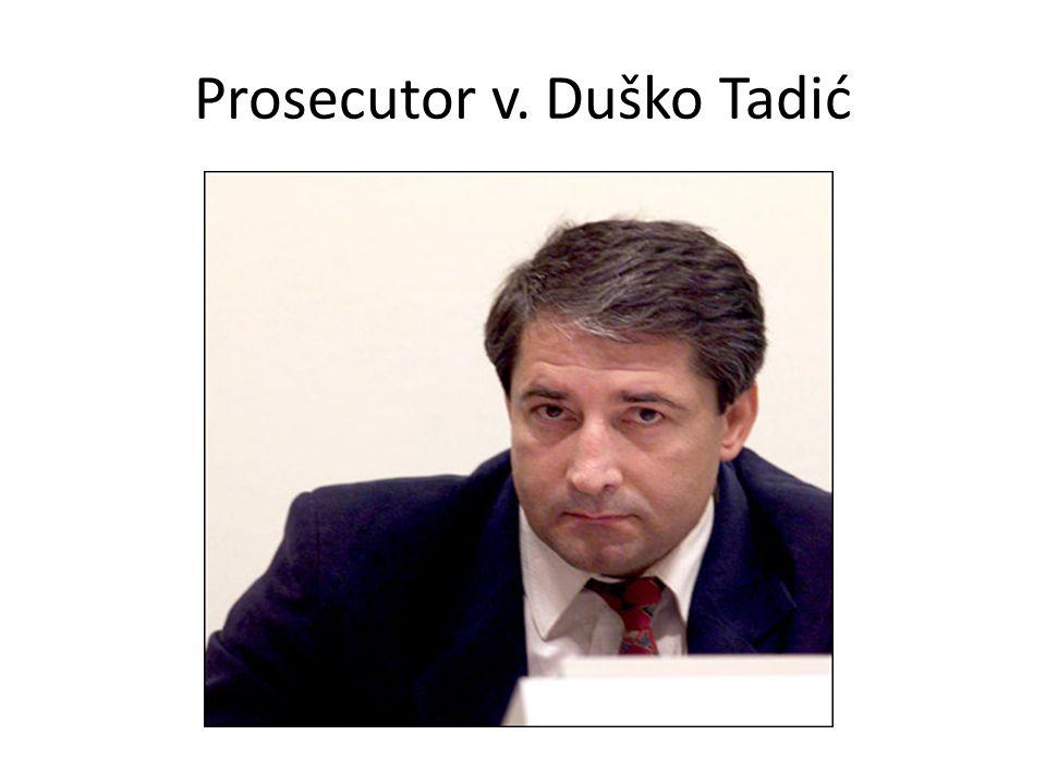 Prosecutor v. Duško Tadić