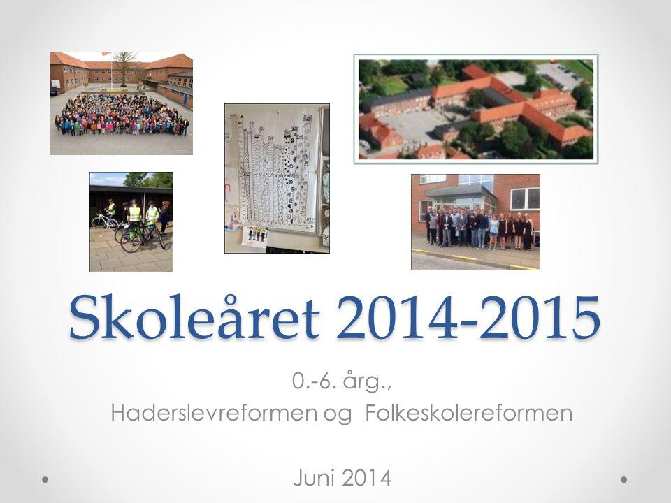0.-6. årg., Haderslevreformen og Folkeskolereformen Juni 2014