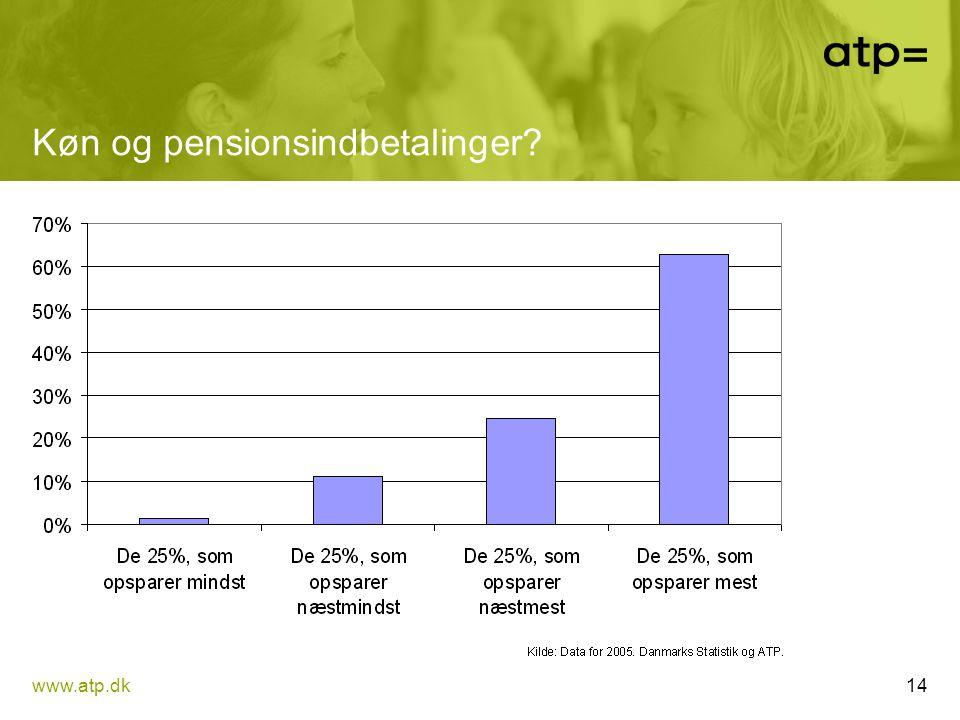 Køn og pensionsindbetalinger