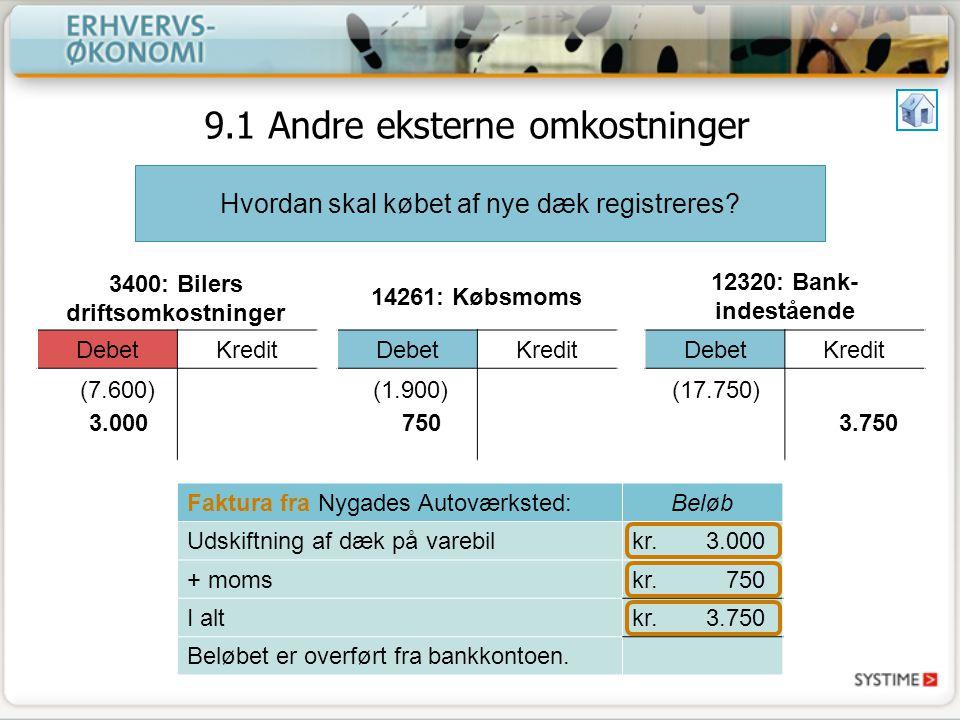 3400: Bilers driftsomkostninger
