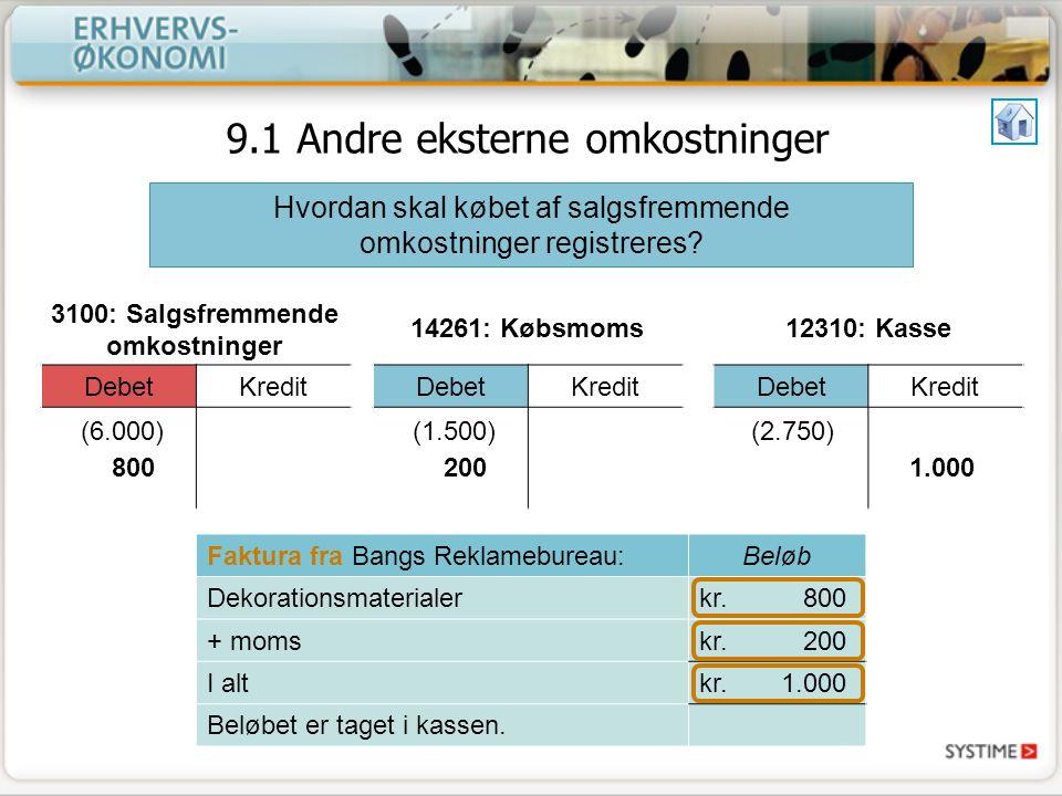 3100: Salgsfremmende omkostninger