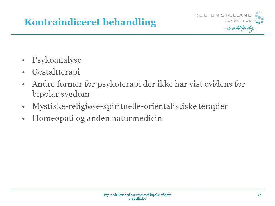 Kontraindiceret behandling
