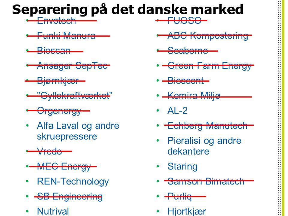 Separering på det danske marked