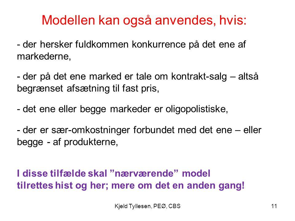 Modellen kan også anvendes, hvis: