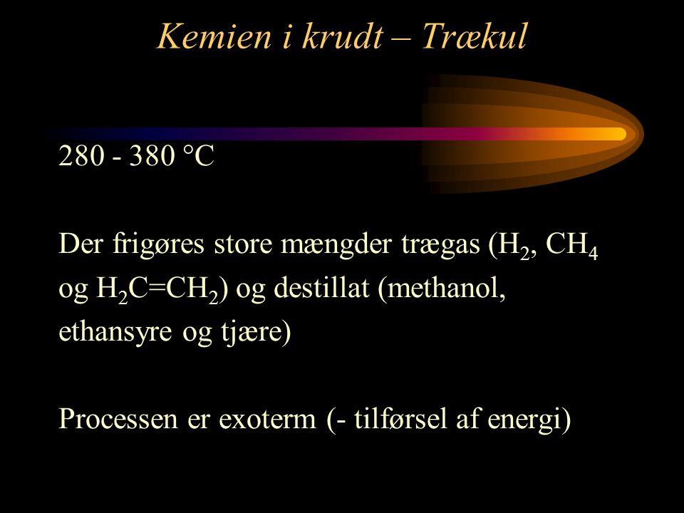 Kemien i krudt – Trækul 280 - 380 C