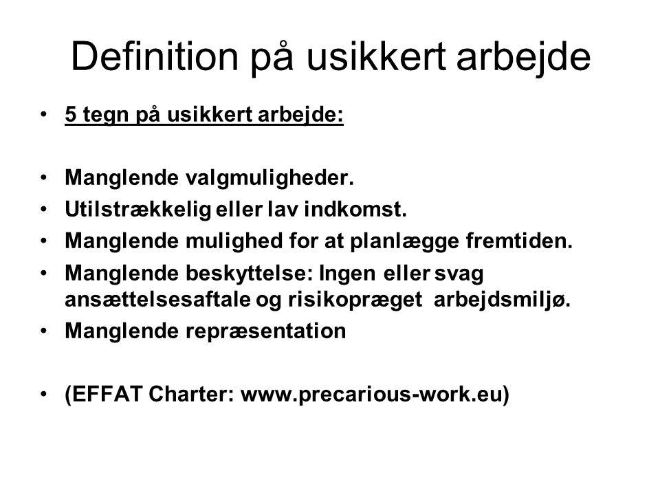 Definition på usikkert arbejde