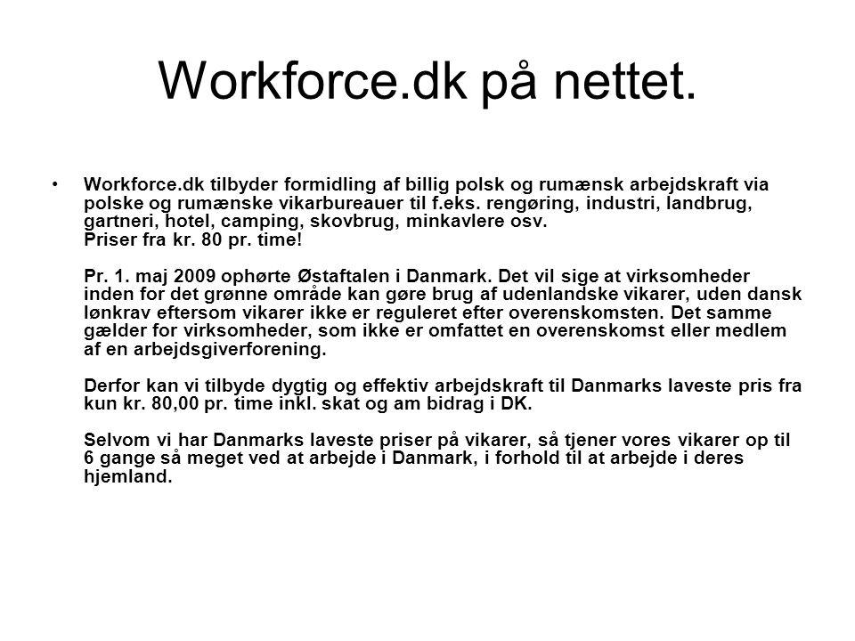Workforce.dk på nettet.