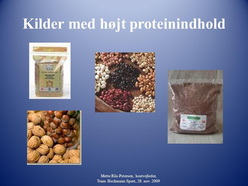 Kilder med højt proteinindhold