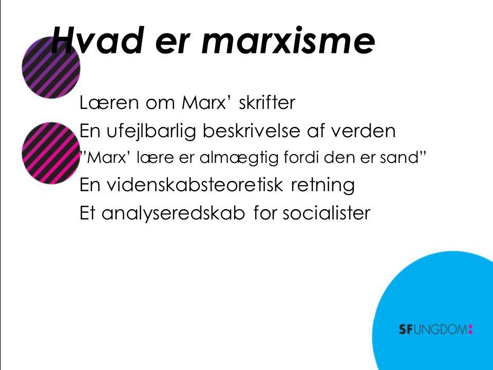 Hvad er marxisme Læren om Marx' skrifter