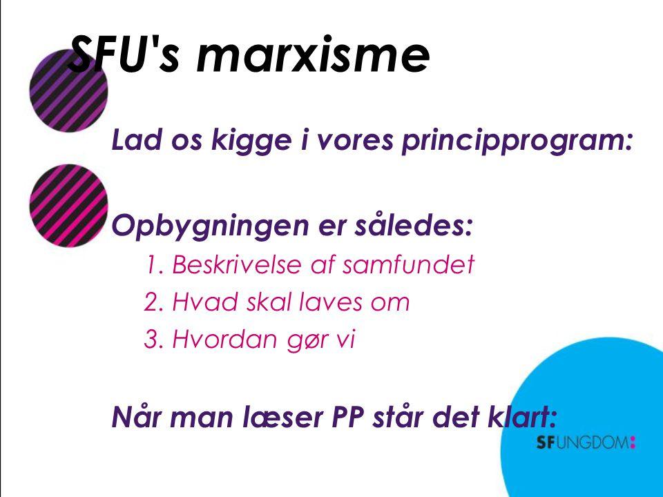 SFU s marxisme Lad os kigge i vores principprogram: