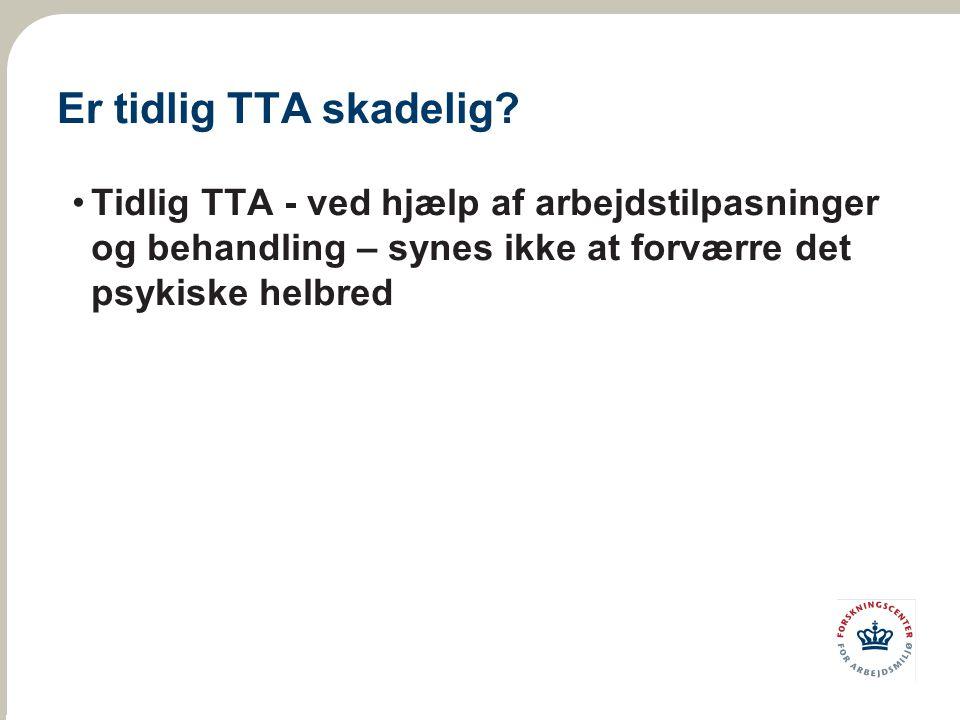 Er tidlig TTA skadelig.