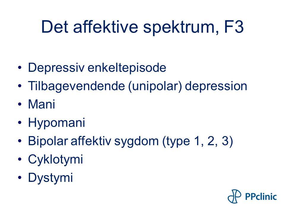 Det affektive spektrum, F3