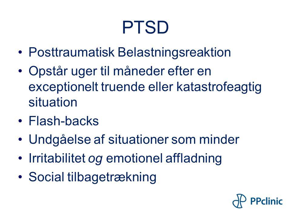 PTSD Posttraumatisk Belastningsreaktion