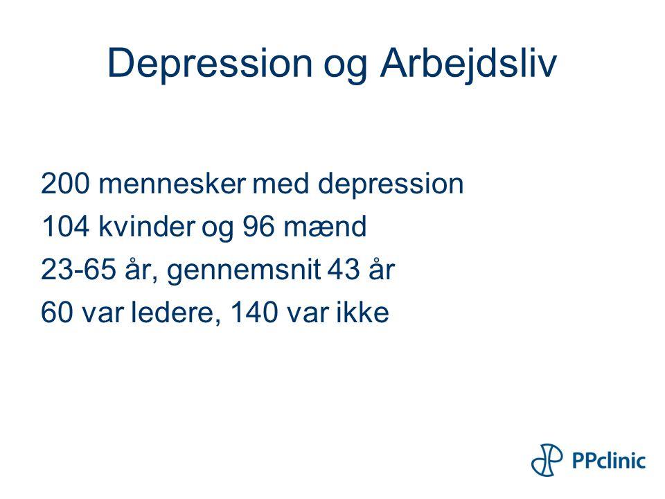 Depression og Arbejdsliv