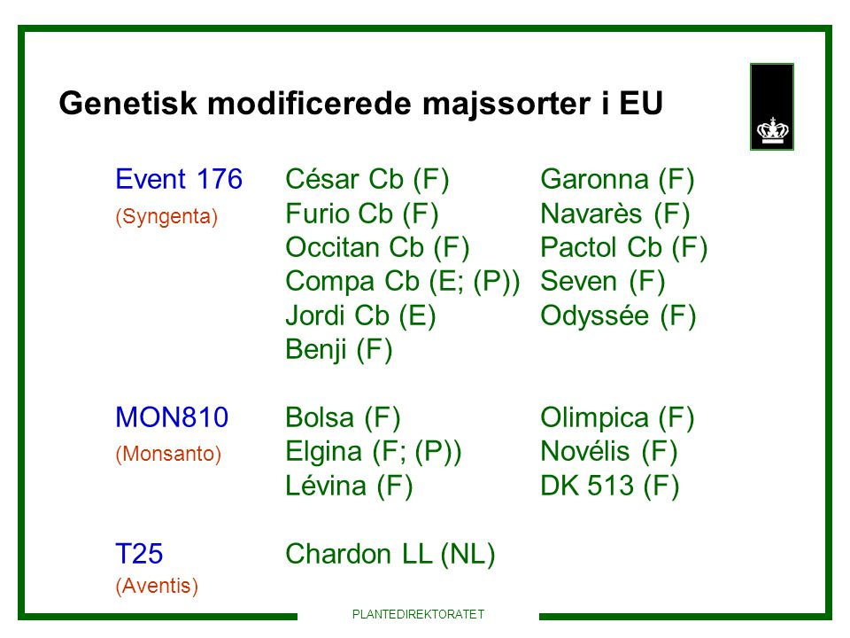 Genetisk modificerede majssorter i EU