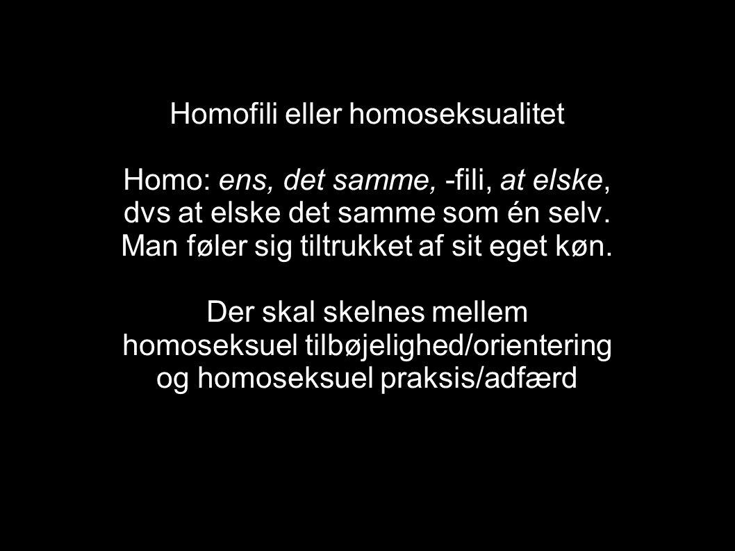 Hvad er homoseksualitet