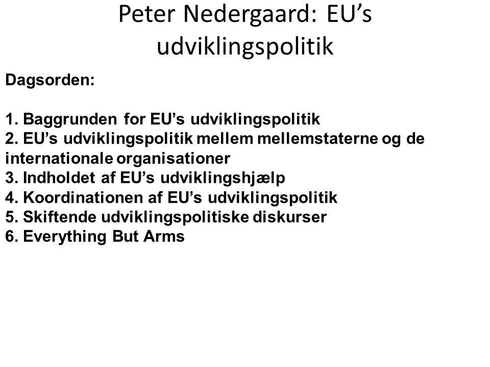 Peter Nedergaard: EU's udviklingspolitik