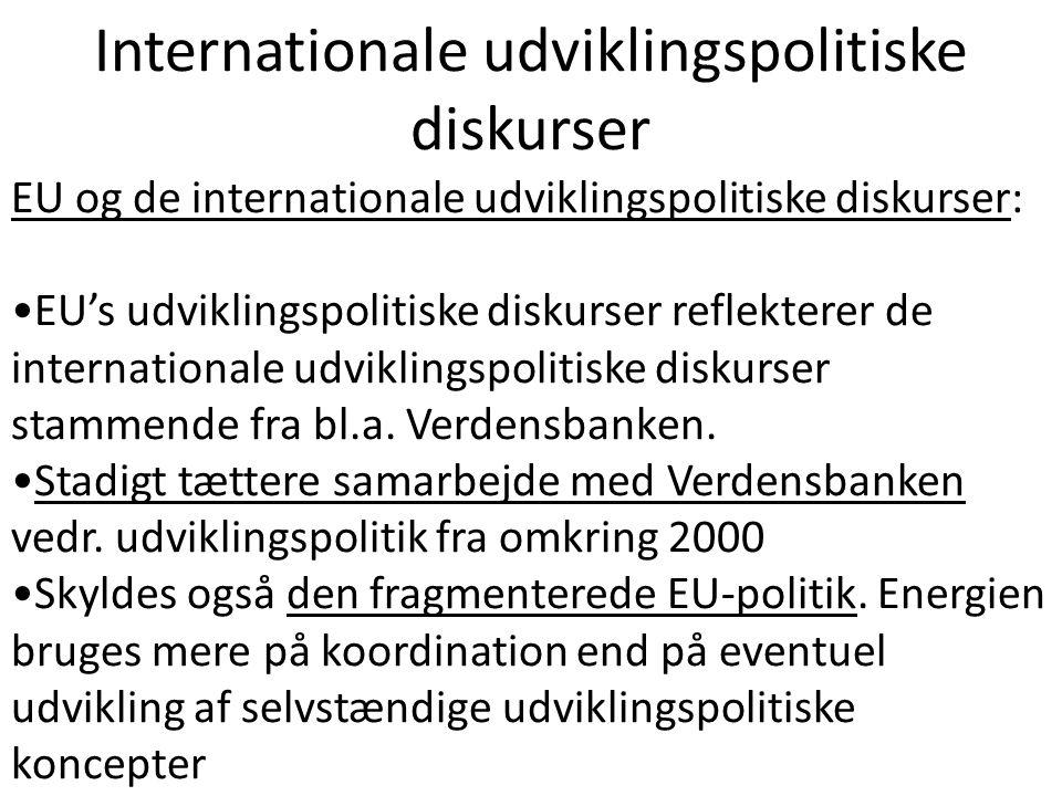 Internationale udviklingspolitiske diskurser