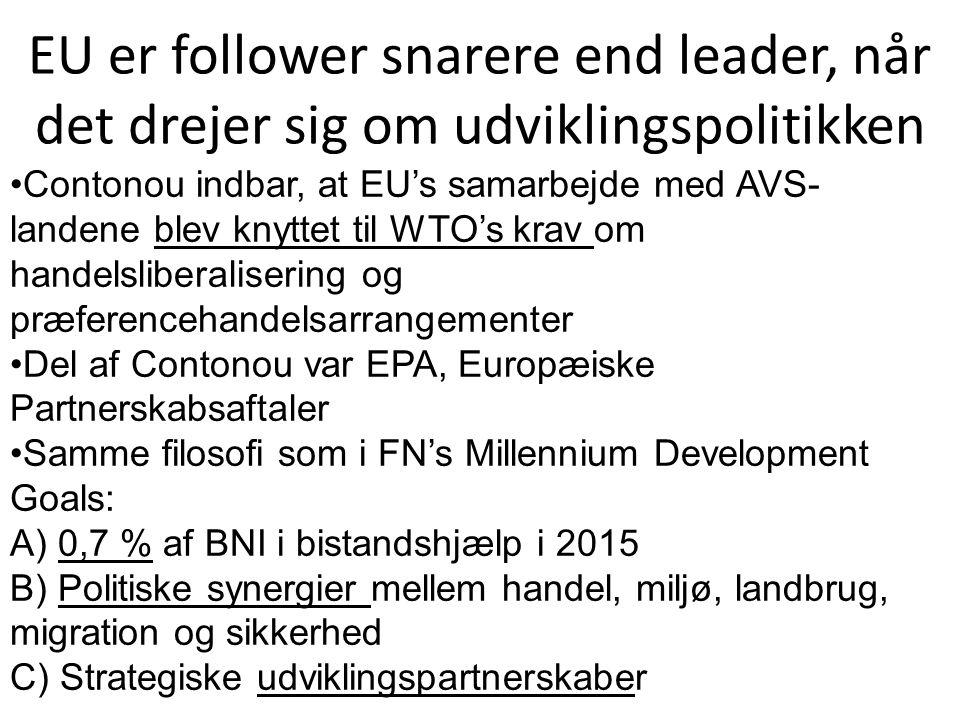 EU er follower snarere end leader, når det drejer sig om udviklingspolitikken