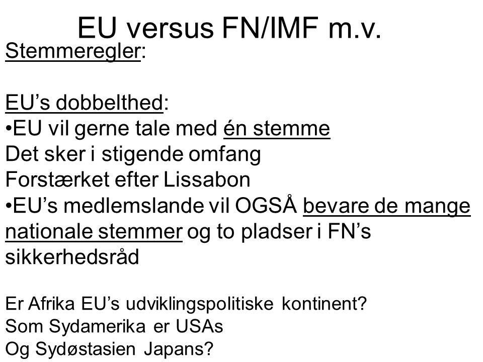 EU versus FN/IMF m.v. Stemmeregler: EU's dobbelthed: