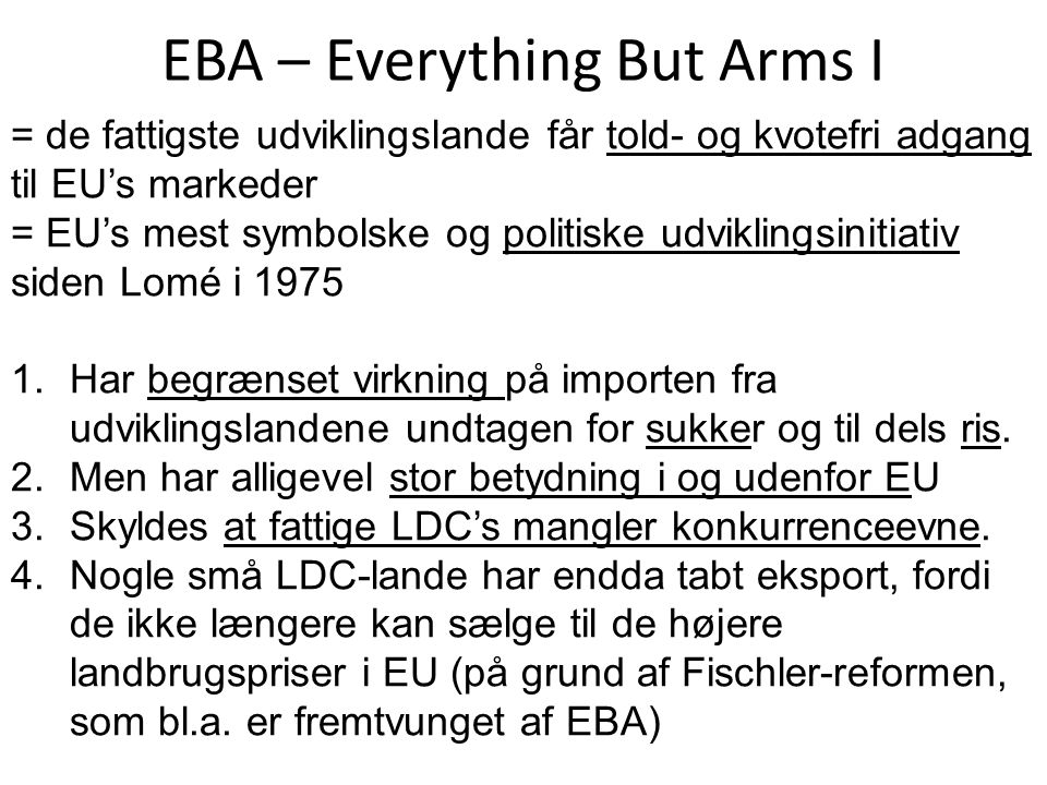 EBA – Everything But Arms I