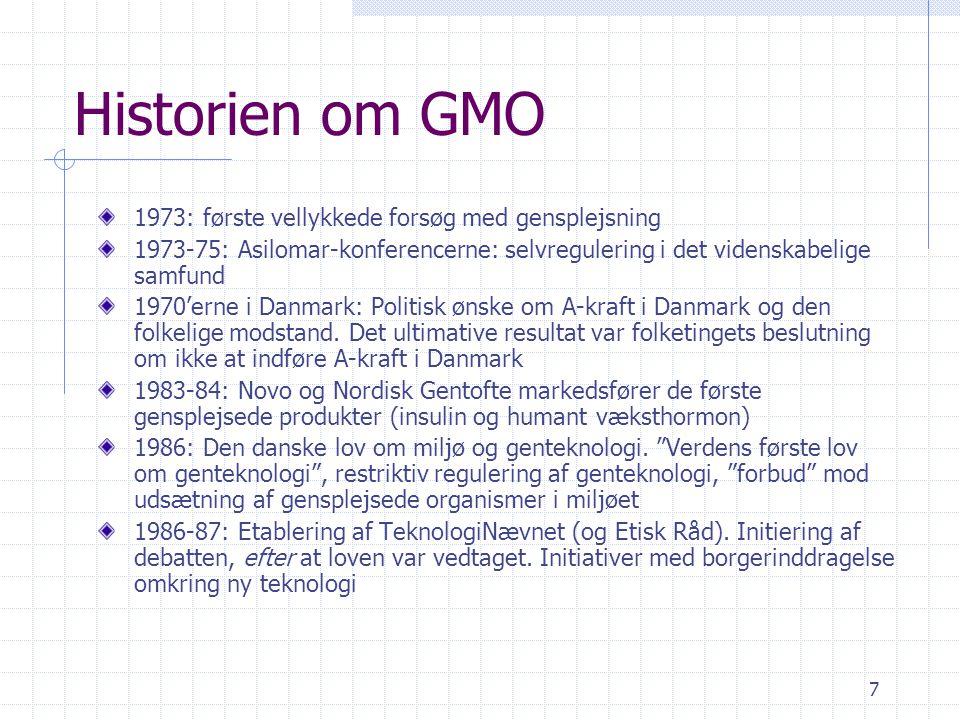 Historien om GMO 1973: første vellykkede forsøg med gensplejsning