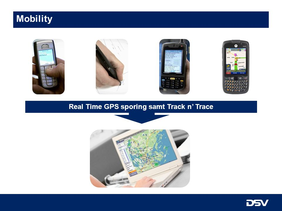Real Time GPS sporing samt Track n' Trace