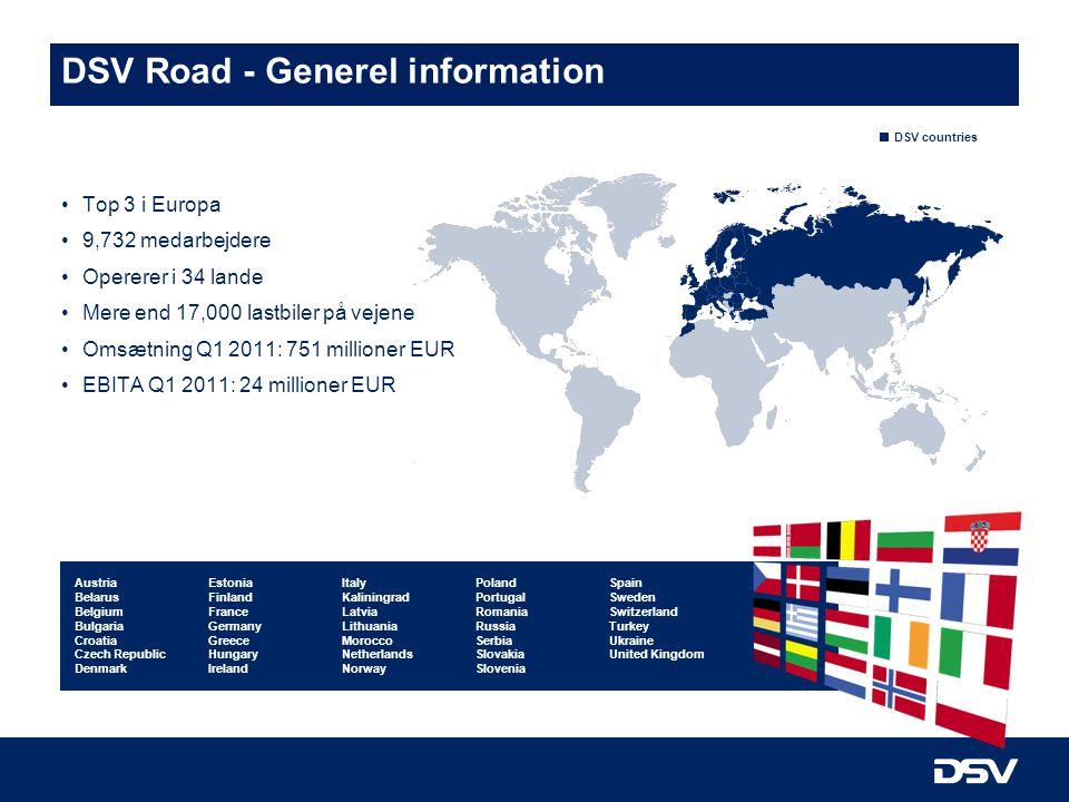 DSV Road - Generel information