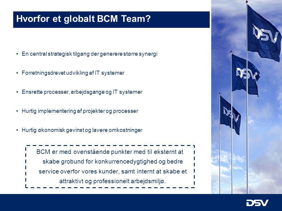 Hvorfor et globalt BCM Team