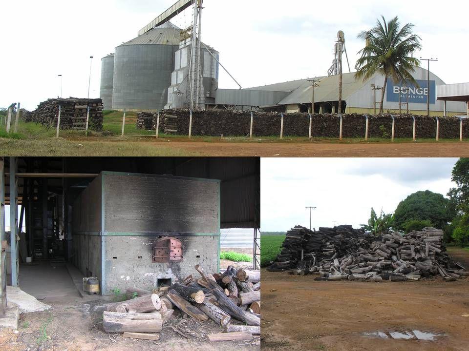 Både på gårde og i sojafirmaerne benyttes træ til tørring af sojabønnerne.