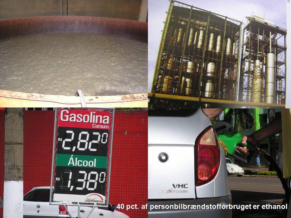 40 pct. af personbilbrændstofforbruget er ethanol