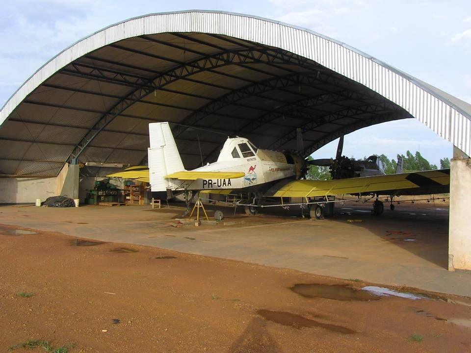 Omkring 10 pct af arealet i Mato Grosso sprøjtes med fly.