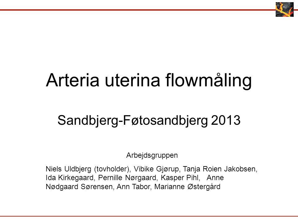 Arteria uterina flowmåling