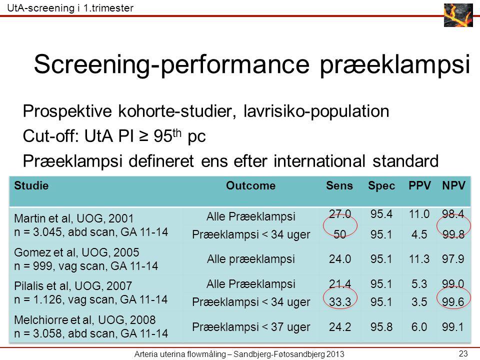 Screening-performance præeklampsi
