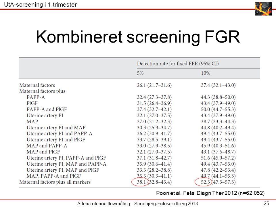 Kombineret screening FGR