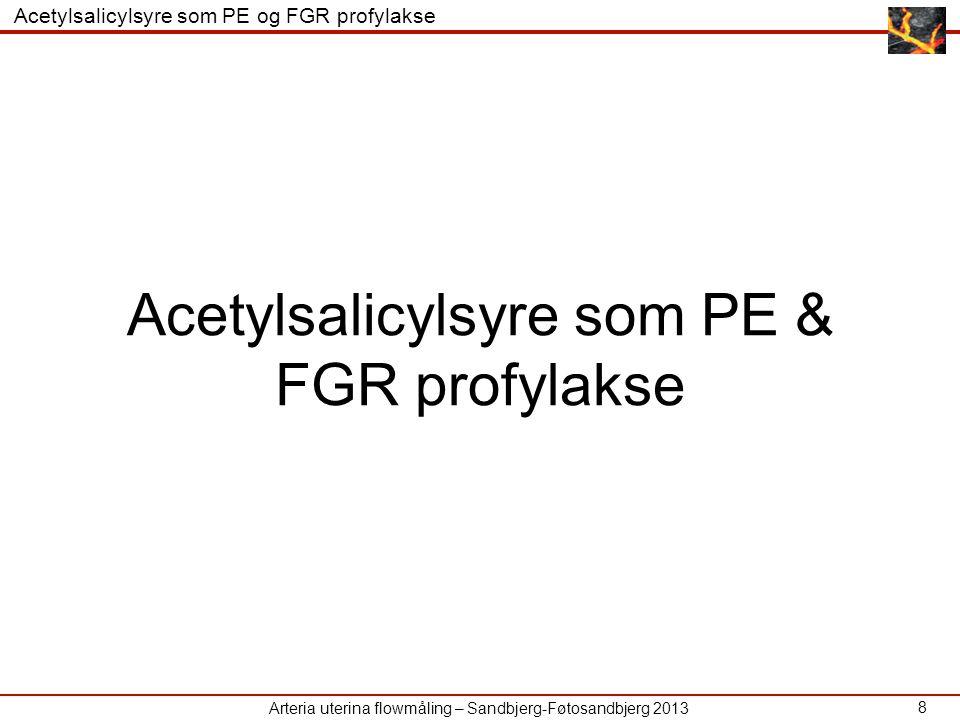 Acetylsalicylsyre som PE & FGR profylakse