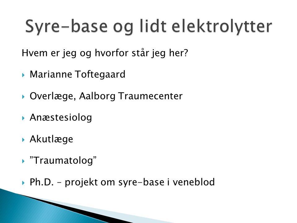 Syre-base og lidt elektrolytter