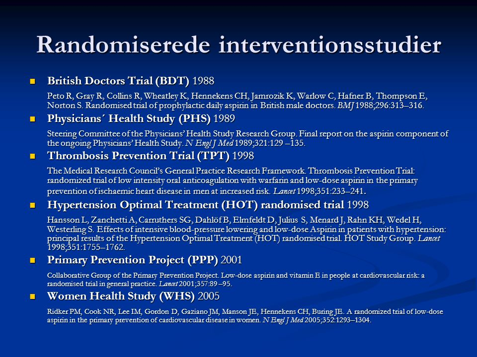 Randomiserede interventionsstudier