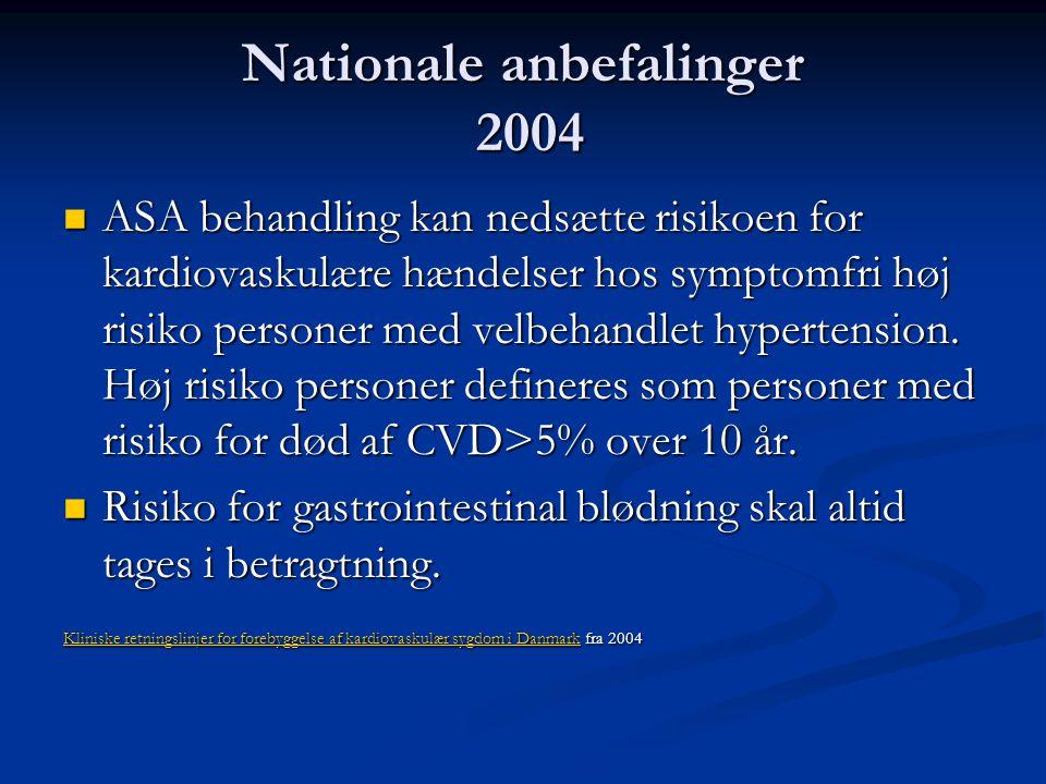 Nationale anbefalinger 2004