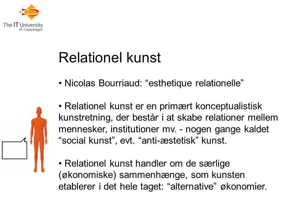 Relationel kunst Nicolas Bourriaud: esthetique relationelle