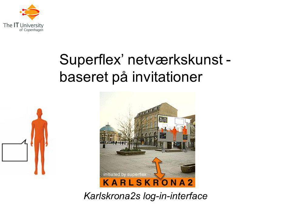 Superflex' netværkskunst - baseret på invitationer