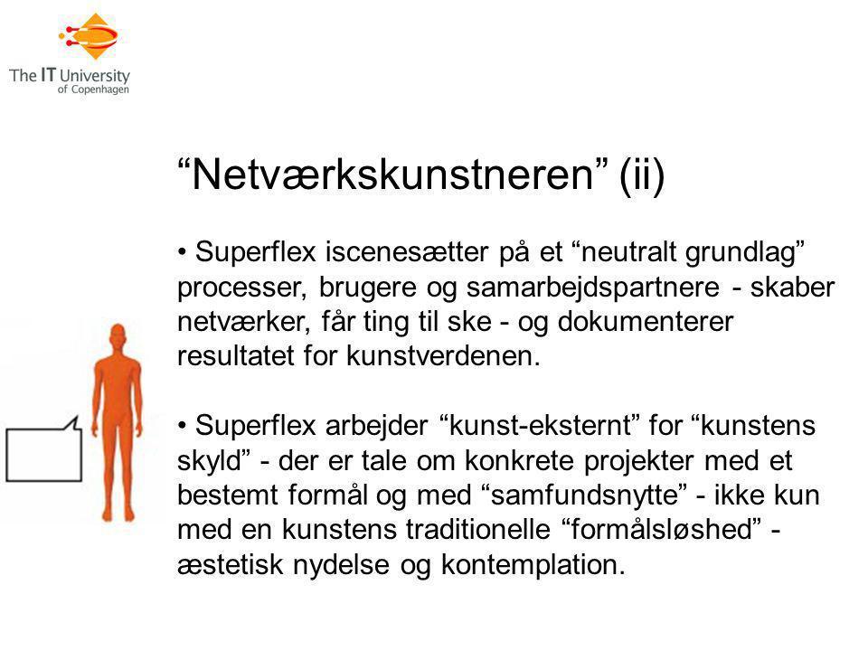Netværkskunstneren (ii)