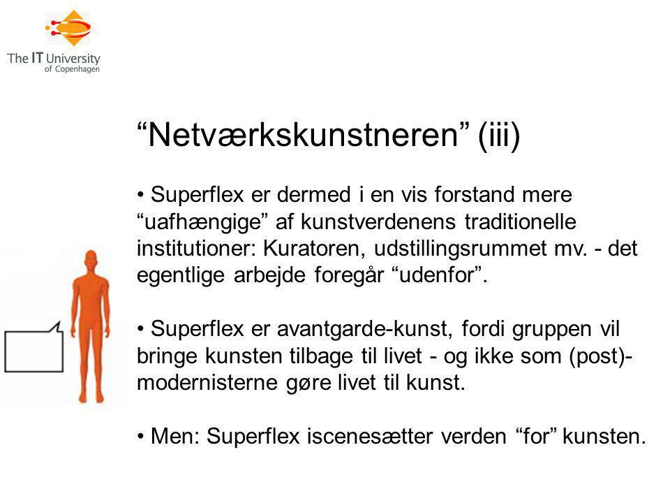Netværkskunstneren (iii)