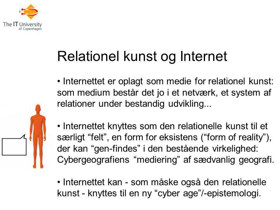 Relationel kunst og Internet