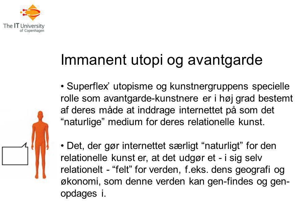 Immanent utopi og avantgarde