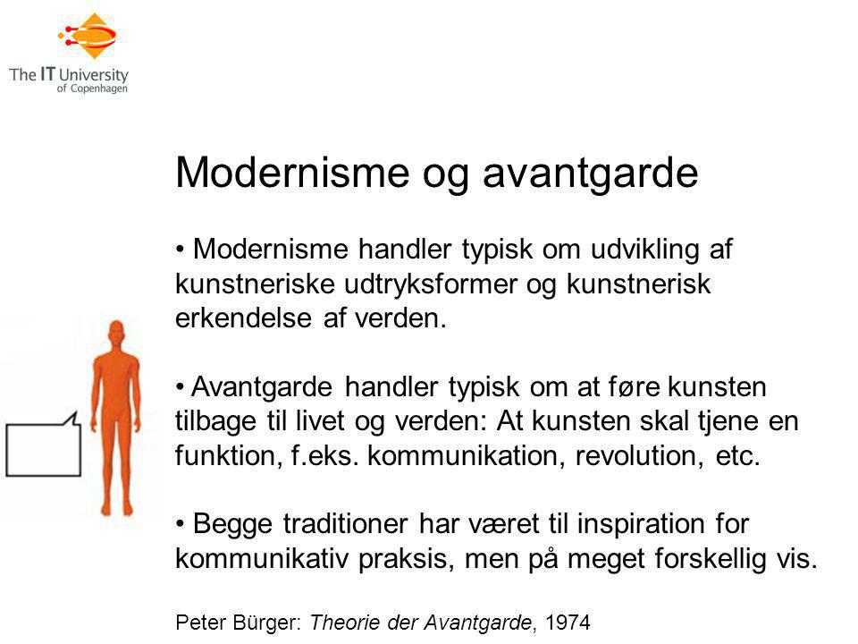 Modernisme og avantgarde