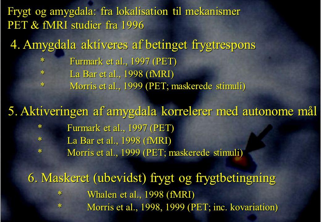 5. Aktiveringen af amygdala korrelerer med autonome mål