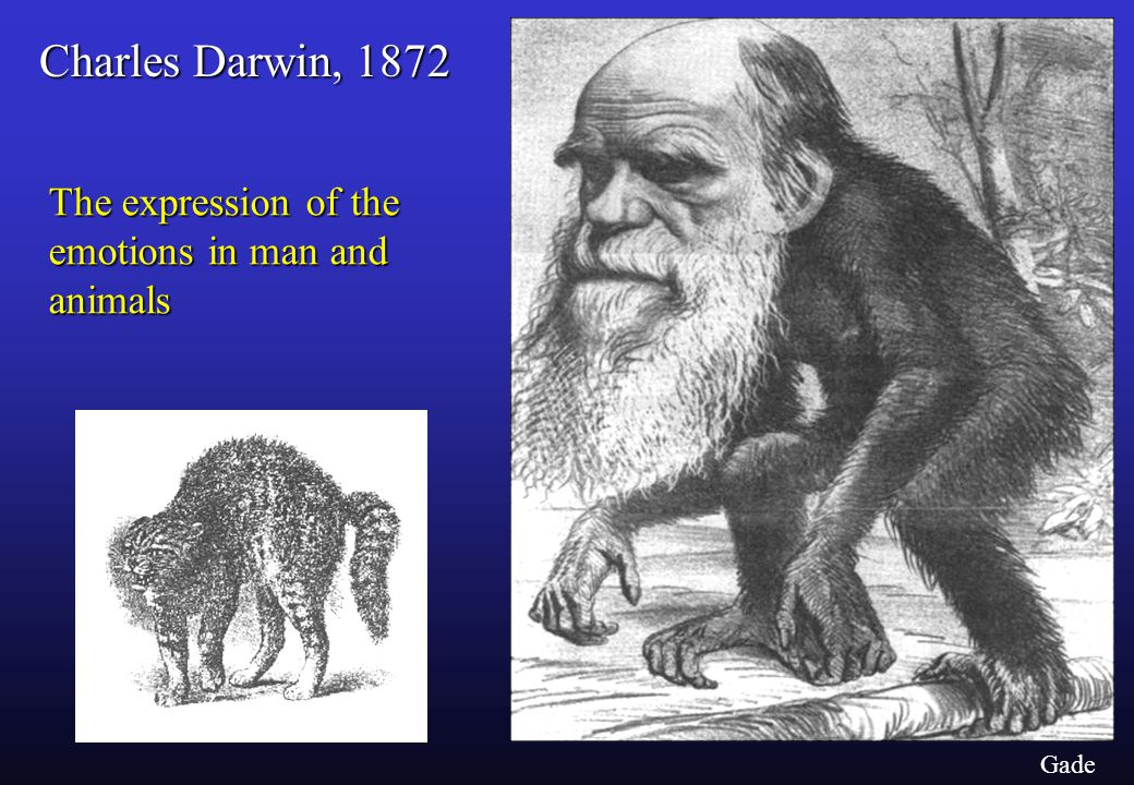 Charles Darwin, 1872 The expression of the emotions in man and animals