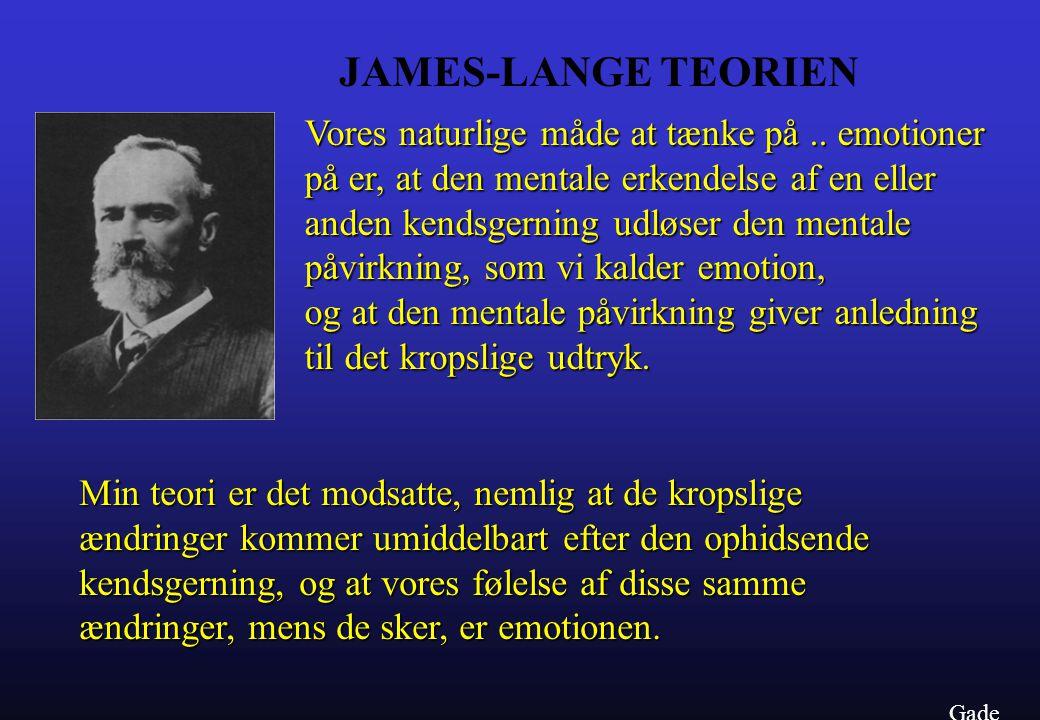 JAMES-LANGE TEORIEN